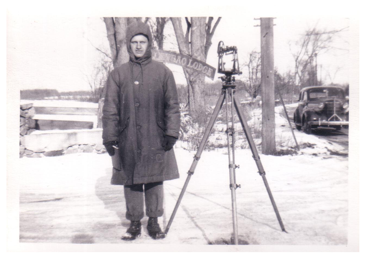 1948 Winter survey, Loosac Lodge, Bedford, Massachusetts.